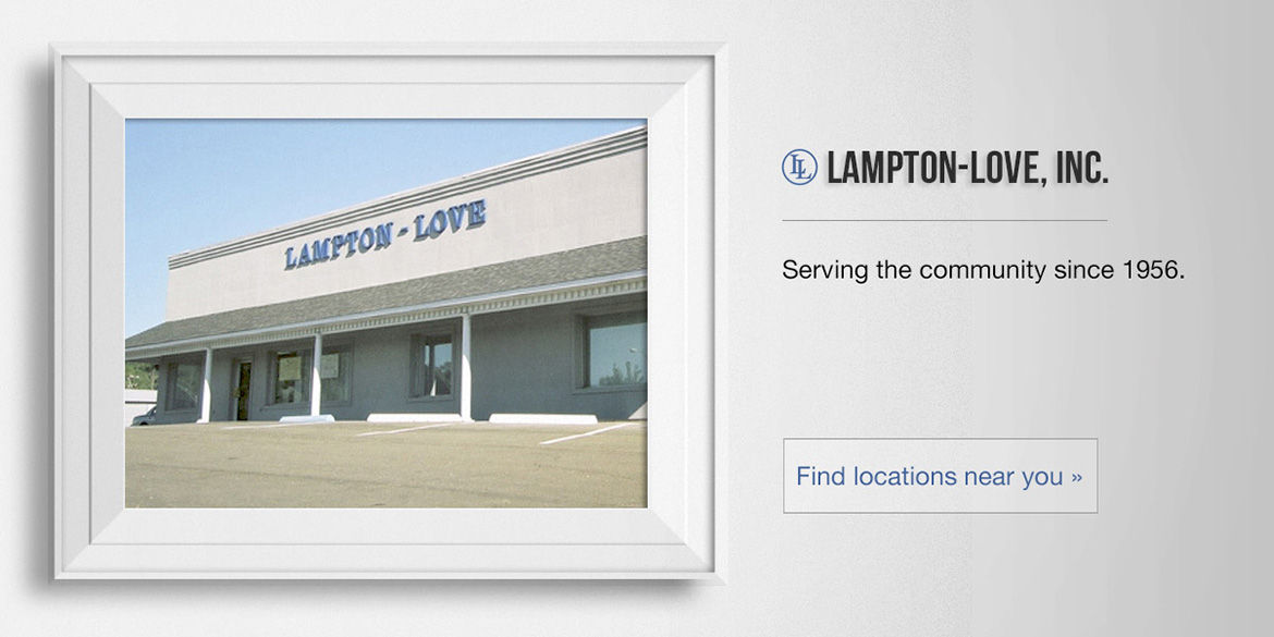 Lampton-Love, Inc. Serving the community since 1956.